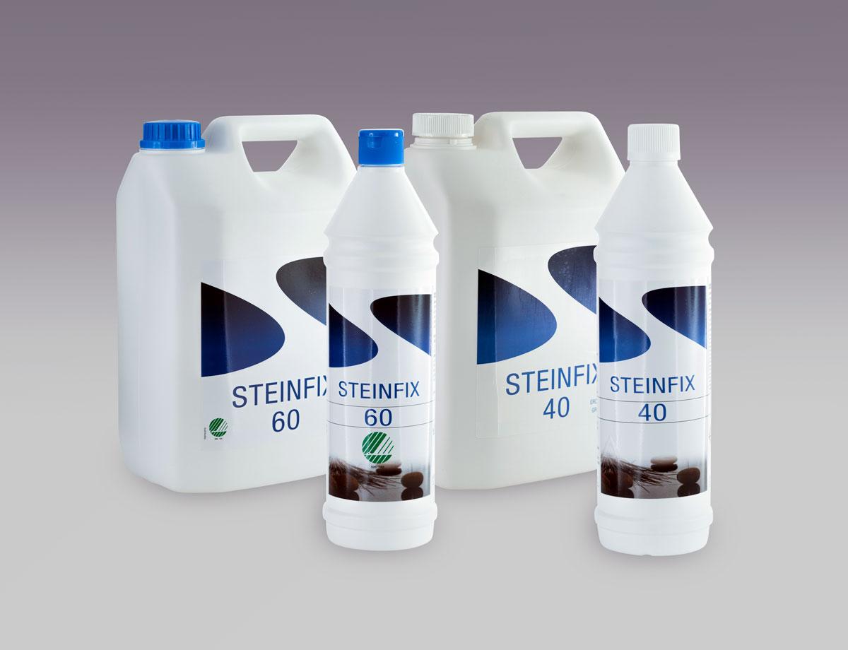 Rengjøringsserien til Steinfix. Produktbilde.